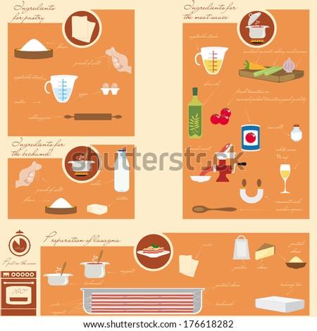 Info graphic food - stock vector
