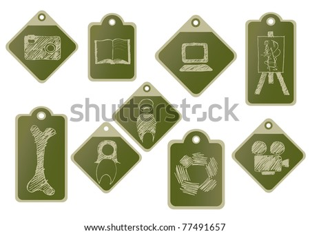 Info graphic tags - stock vector