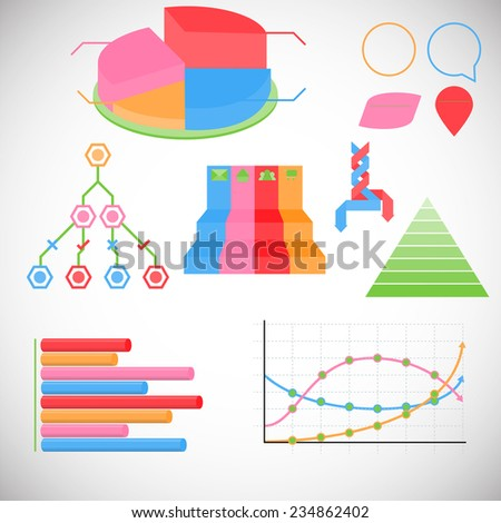 info graphic  world stats 7 - stock vector