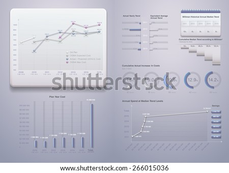 Info graphics. Charts, diagrams, comparative scale, the percentage of items. 3d plastic design icons and graphics Can be used in presentations, websites, printed materials.Set elements of infographics