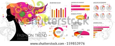 info graphics leisure fashion - stock vector