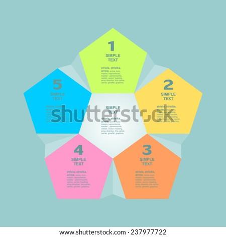 Infogaphics 5 steps. vector format. - stock vector