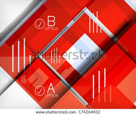 Infographic abstract background. For business presentation | technology | web design - stock vector
