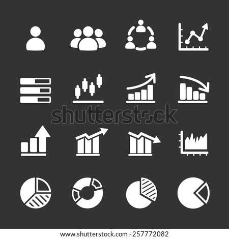 infographic and chart icon set, vector eps10. - stock vector