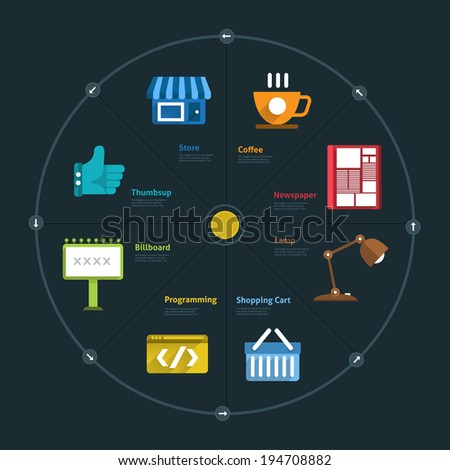 Infographic and icon element business connect lifestyle for design layout or graph chart  - stock vector