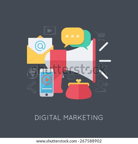 Infographic background. Digital marketing and promotion. Modern flat design template.  - stock vector