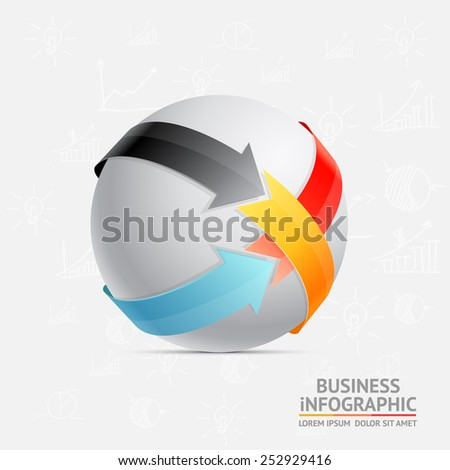 Infographic ball vector illustration - stock vector