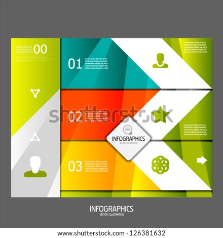 Infographic banner design elements - stock vector