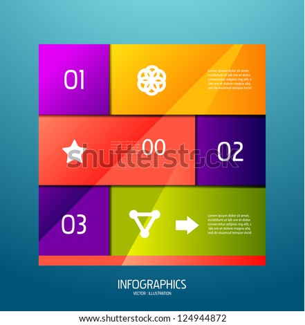 Infographic banner design elements, numbered lists - stock vector