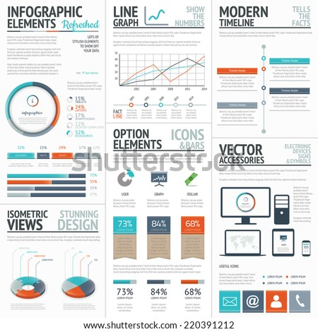 Infographic business and corporate analysis vector elements - stock vector