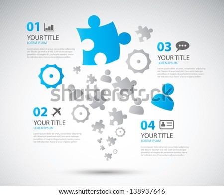 Infographic business options brochure vector illustration - stock vector