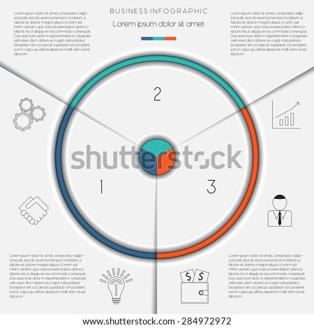 Infographic business process workflow template text stock vector infographic business process or workflow template with text areas on 3 positions flashek
