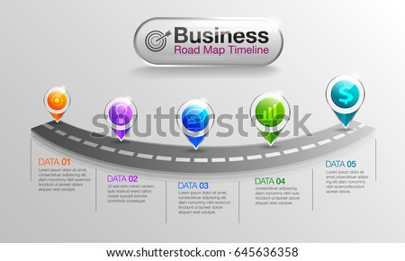 Infographic Business Roadmap Timeline Options Stock Vector - Roadmap timeline template