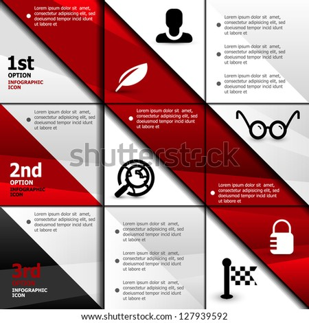 Infographic business web banner design template - stock vector