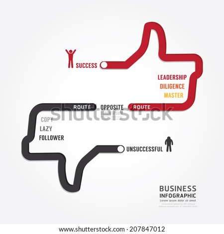 Infographic bussiness. route to success concept template design . concept vector illustration - stock vector