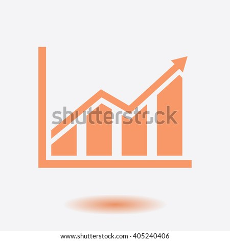 Infographic. Chart icon. Growing graph simbol. - stock vector