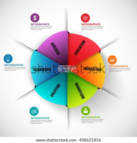 Infographic circle vector design template. Can be used for workflow, cycle diagram, statistic, circular, infographic banner, number options, design, infographic elements, set information infographics.