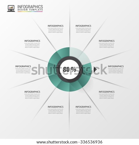 Infographic circle with percent. Modern design template. Vector illustration - stock vector