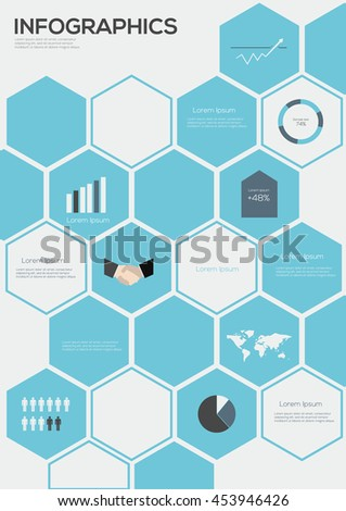 Infographic collection, vector illustration. Information Graphics