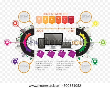 Infographic concept, vector - stock vector