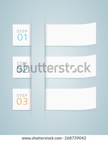 Infographic 3D Numbered Step Ribbons 2  - stock vector