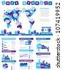 INFOGRAPHIC DEMOGRAPHICS TOY PURPLE - stock vector