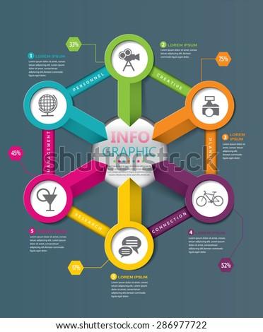 Infographic design elements - stock vector