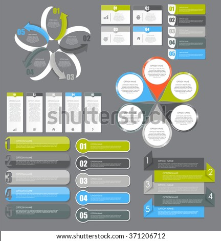 Infographic Design Elements Set for Your Business Vector Illustration. EPS10