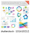 Infographic design elements. Vector saved as EPS-10, file contains objects with transparency (shadows etc.) - stock vector