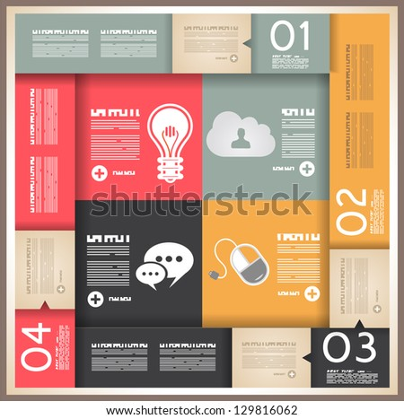 Infographic design for product ranking - original paper geometric shape with shadows. Ideal for statistic data display - stock vector