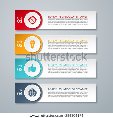 Arrow Infographic Banner Design Template Diagram Stock Vector