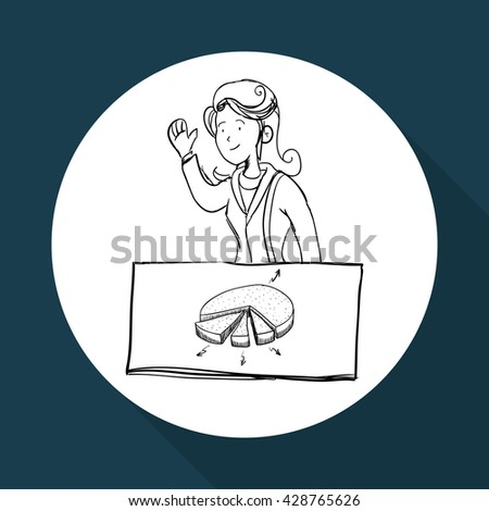Infographic design. sketch icon. Isolated and flat illustration