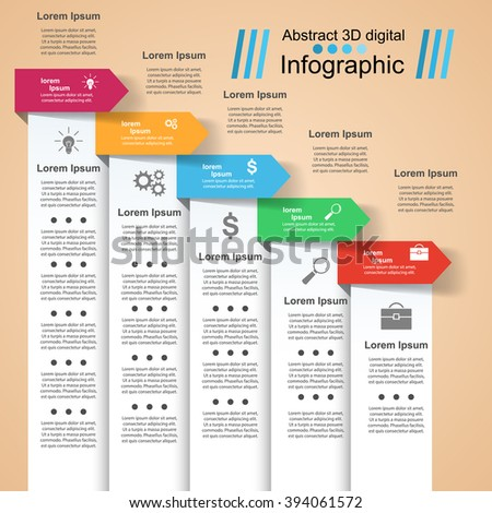 Infographic design template and marketing icons.