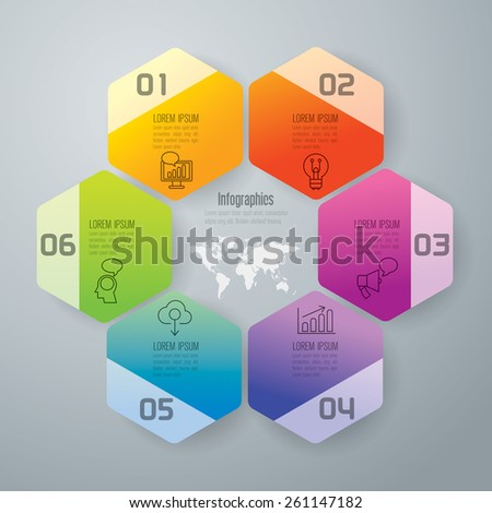 Infographic design template and marketing icons, thin line style, flat design. Can be used for workflow layout, diagram, number options, web design.    - stock vector