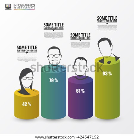Infographic design template. Business concept. Vector illustration - stock vector