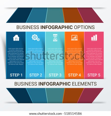 Infographic design template can be used for workflow layout, diagram, number options, web design. Infographic business concept options, parts, steps or processes. Abstract background.