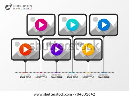 Infographic Design Template Timeline Your Video Stock Vector - Video timeline template
