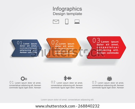 Infographic design template. Vector illustration Eps 8. - stock vector