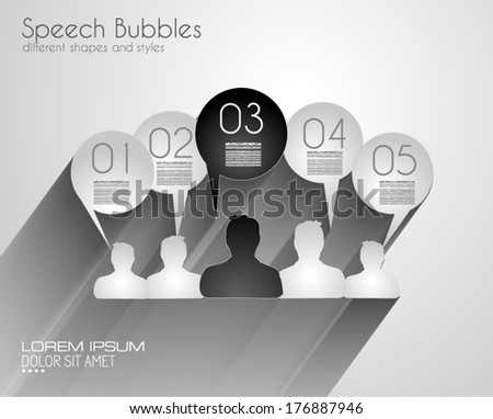 Infographic Design Template with modern flat style. Ideal to display data and for product ranking or generic classification of items. - stock vector