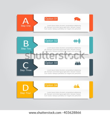 Infographic design template with place for your data. Vector illustration. - stock vector