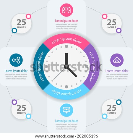 Infographic design. Time management. Vector eps 10. - stock vector