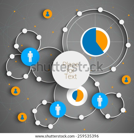 Infographic design with circles on creative background. Eps10 vector for your design  - stock vector