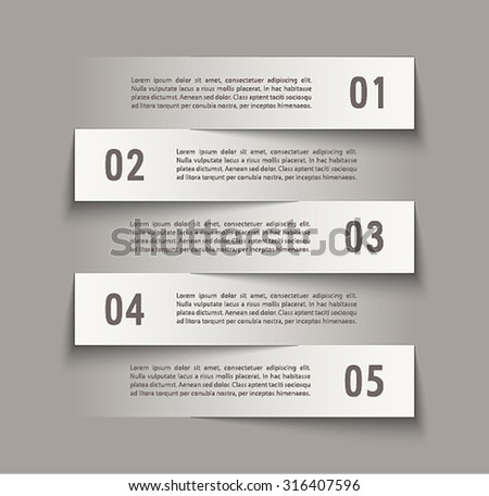 Infographic design with paper creative lines. Vector illustration. - stock vector