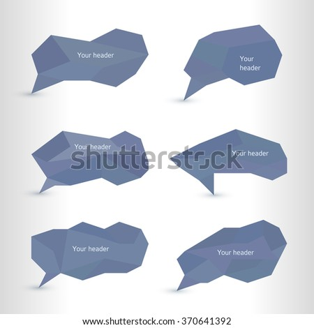 Infographic design with set bad communication bubbles isolated on the white background. Vector abstract illustration Eps 10. Theme of summer, wellness, nature, healthy living, travel, fitness