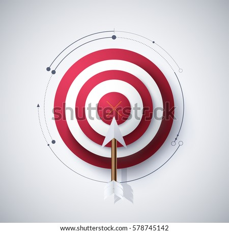 vector archery targets missed arrows on stock vector. Black Bedroom Furniture Sets. Home Design Ideas