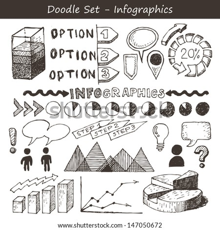 Infographic Doodles - stock vector