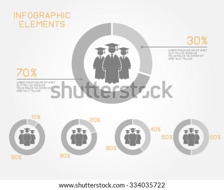 Infographic Education Student College School Graduation Scholarship  - stock vector