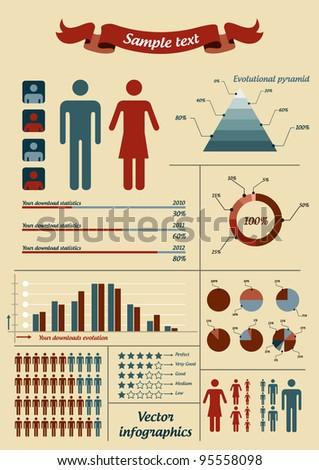 Infographic elements - stock vector