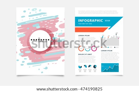 Infographic Elements Annual Report Brochure Template Stock Vector - Infographic brochure template