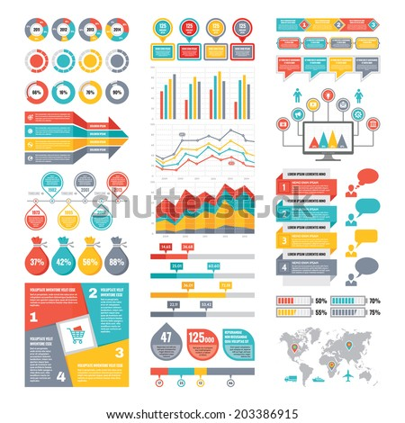 Infographic Elements Collection Business Vector ...